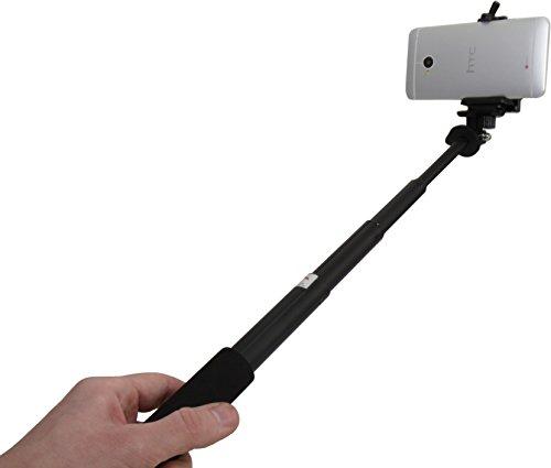 Luxburg® telescopisch statief selfie stick monopod voor DSLR, GoPro en camera's - inclusief smartphone adapter - belastbaarheid: 2kg