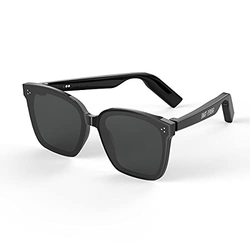STM32 by ST Bluetooth Smart Glasses Call Music Anti-Ultraviolet Bone Conduction Wear Fashionable Sun Sunglasses-Black Gray