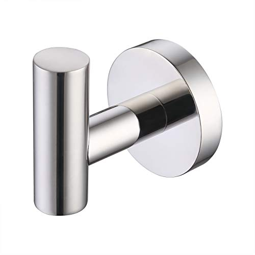 KES Bathroom Towel Hook No Drill Robe Hook Shower Kitchen Wall Hanging Hooks Wall Mount SUS 304 Stainless Steel Polished Finish, A2164DG