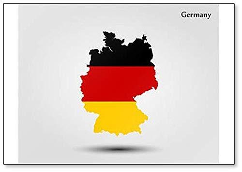 Kühlschrankmagnet Deutschland - Landkarte