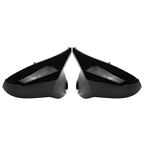 ZLNCJDM Tapas de Espejo, para M3 M4 F80 F82 2015-2018 para los Enlaces de reemplazo del Controlador Izquierdo + M3 M4 M3 M4 Vista Posterior de la Puerta Lateral alas,Glossy Black