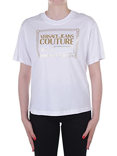 Versace 71HAHT13 CJ00T Camiseta Manga Corta Mujer Blanco S