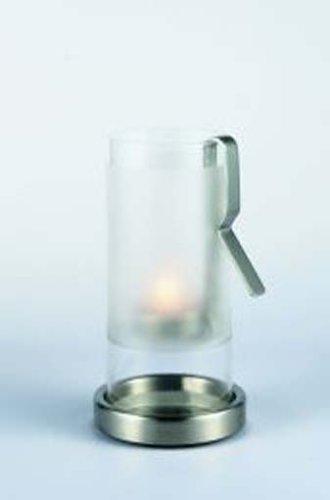 Auerhahn Tube Windlicht Cliplight H 19cm Edelstahl in Geschenkverpackung