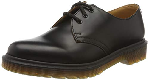 Dr. Martens 1461 Scarpe basse stringate, Unisex, Adulto, Nero (Black Smooth Pw), 42