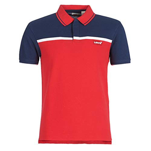 Levi's SS MODERN HM Polo T-Shirts & Poloshirts Hommes Rot/Marine - S - Polohemden