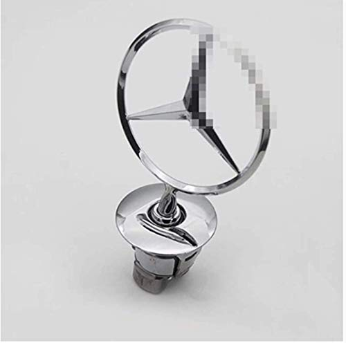GUOSHUFANG Emblema de estrella para el capó del coche, de metal y cromo, emblema de águila cromado, logotipo 3D para Me-rc-ed-es Benz N E W Clase