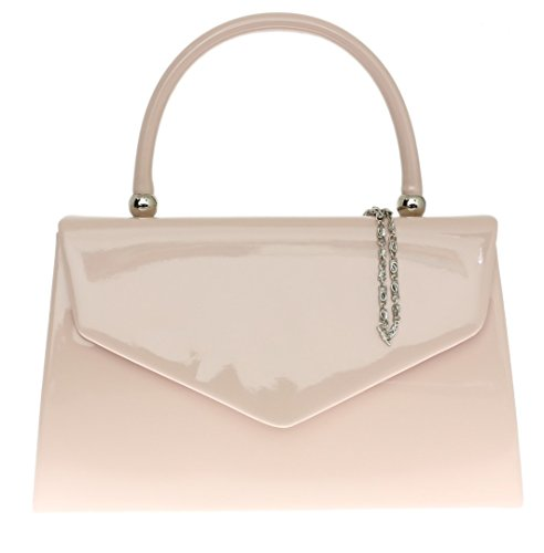 Girly Handbags Glänzender Hartschalenkoffer - Rosa Blush