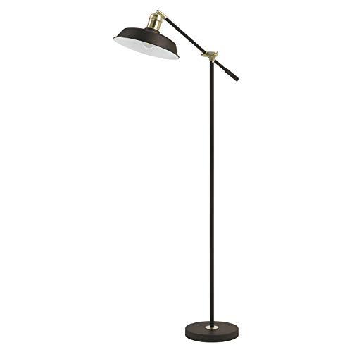 EXO Lighting - Lámpara pie de salón OMA marrón cobrizo IP20 portalámparas E27. Lámpara de suelo o lectura para salas de estar, dormitorios, comedor y despachos