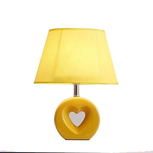 HYY-YY - Lámpara de mesa, Personality, sencilla lámpara de cerámica LED, moderna, minimalista, moderna, para dormitorio, mesita de noche, estudio, iluminación decorativa, luz de posición