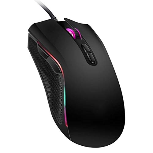 Lpinvin Maus 7 Helle Farben Angezeigt Wired Gaming Mouse Plug and Play Drahtlose USB-Maus (Farbe : Black, Size : One Size)
