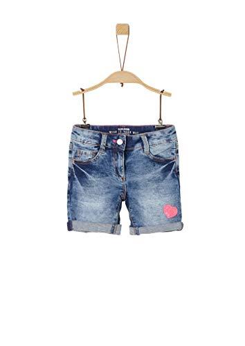 s.Oliver RED Label Mädchen Regular Fit: Jeans-Shorts mit Patch Blue Stone Washed 122.Slim
