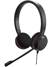 Jabra Evolve 20 Stereo zestaw słuchawkowy - słuchawki do telefonów VoIP Softphones z certyfikatem Microsoft Teams i pasywną redukcją szumów - kabel USB-A z pilotem - czarny