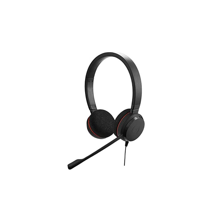 Jabra Evolve 20 Stereo Headset – Casque Filaire pour VoIP