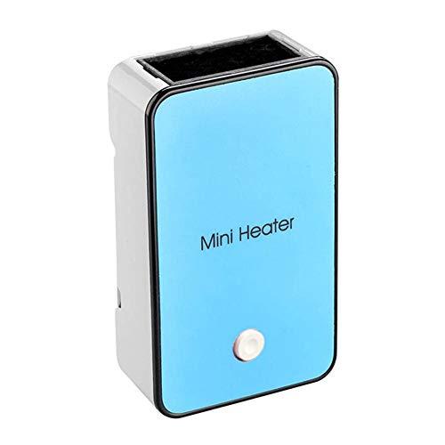 AIZYR Mini Chauffage Électrique Portable, Bureau Ventilateur Radiateur Combo Calme, 50W Monotouche Interrupteur pour Bureau, Accueil,Blue