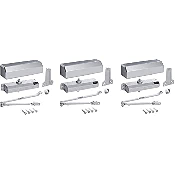 Hager 5300 Series Aluminum Grade 1 Heavy Duty Surface Door Closer Multi Mount 1 6 Adjustable Spring Size Sprayed Aluminum Finish 3 Amazon Com