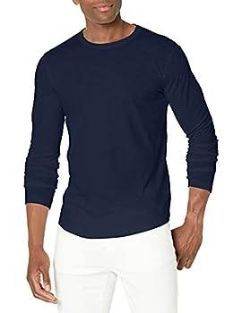 Velvet by Graham & Spencer Men s Kai Cre Neck Long Sleeve Shirt Midnight XL