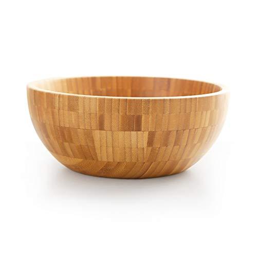 AHAI YU Bambú Cuencos, Ensalada de Pasta del bocado Cuencos, Platos de Sopa, Fruta Fideos Tazón, Helado, Cereales Ramen Cuencos, tazones Dip duraderos (Size : 2)