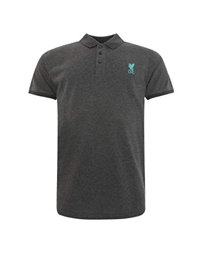 FC Liverpool Conninsby Etro Polo Shirt (Charcoal/Blue, XL)