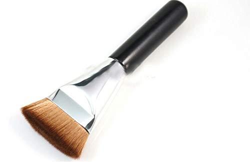 Grand pinceau de maquillage Contour Réparation noir poignée en bois pinceau de maquillage Matériel fiable (Handle Color : Brown)