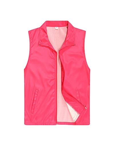 Shaoyao Express-Lieferung Weste Freiwillige Arbeitskleidung Aktivität Tops Rose M