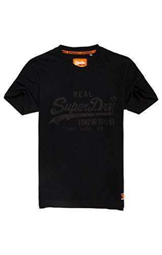 Superdry Vintage Logo Box Fit App tee Camiseta, Negro (Black 02a), M para Hombre