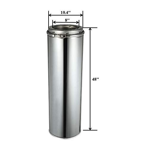 Why Should You Buy Rainbow Chimney 8'' x 48'' Length 304 Stainless Steel Chimney Pipe Double Wall