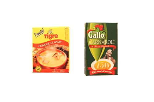 Albo Trade Miniatur-Magnetische Kombination aus Fondue und Reis Hahn Carnaroli