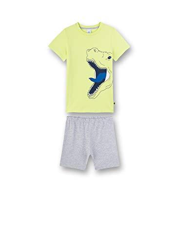 Sanetta Jungen Pyjama kurz Zweiteiliger Schlafanzug, Gelb (gelb 2481), 92 (Herstellergröße:092)