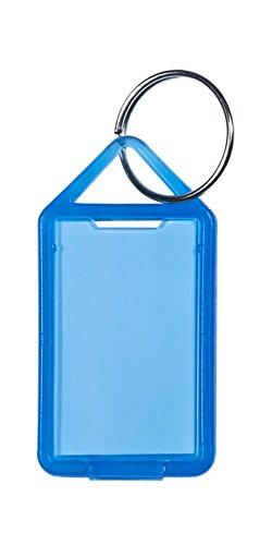 Paulat Schlüsselanhänger/Klapp-Anhänger aus Kunststoff mit Ring, aufklappbar und beidseitig lesbar (Groß - Nr. 12) (20 Stück, transparent-blau)