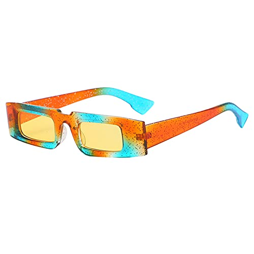 harayaa Gafas de sol rectangulares clásicas de moda con tapa plana gafas de protección UV400 accesorios para deportes de playa al aire libre