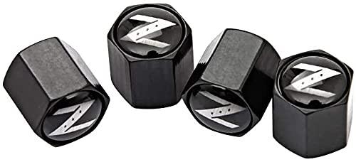 4 Piezas TapóN Polvo Metal Coche De La De NeumáTicos para Nissan Z X-trail Juke Qashqai Pathfinder 350-Z 370z Primera Bluebird, De VáLvula Con Logo, DecoracióN Accesorio, Llanta Anti-Robo Cubierta