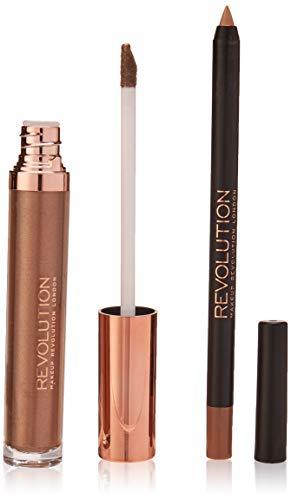 MAKEUP REVOLUTION Retro Luxe Metallic Lip Kit Sovereign, 2 Stück
