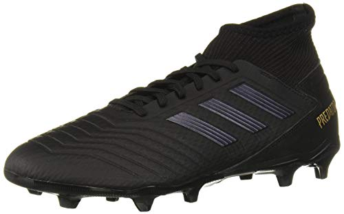 adidas Men's Predator 19.3 Firm Ground Soccer Shoe, Black/Black/Gold Metallic, 9.5 M US