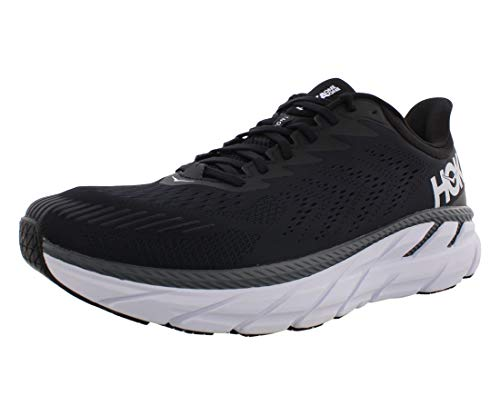 HOKA ONE ONE Clifton 7 Mens Shoes Size 11.5, Color: Black/White