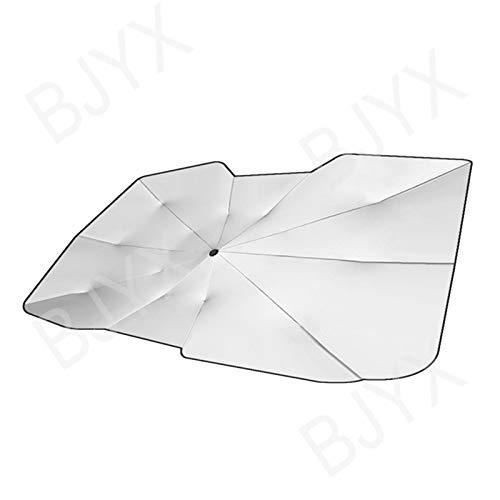 BJYX Sombrilla Protector Solar para Luna Delantera, Bloquea los Rayos UV, Previene el Envejecimiento Interior, Fácil de Usar/Almacenar, se Adapta a la Mayoría de los Automóviles