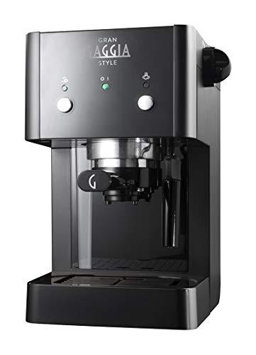 Gaggia GranGaggia Style Black Macchina Manuale per il Caffè Espresso, per Macinato e Cialde, 15 bar, Colore Nero, RI8423/11