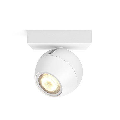 Philips Hue LED Spot Buckram Erweiterung, dimmbar, alle Weißschattierungen, steuerbar via App, weiß, kompatibel mit Amazon Alexa (Echo, Echo Dot)