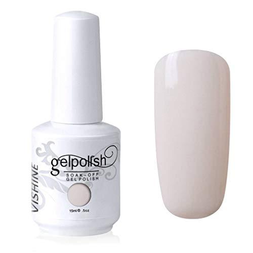 Vishine Gelpolish Professional Manicure Salon UV LED Soak Off Gel Nail Polish Varnish Color Ivory(1346)
