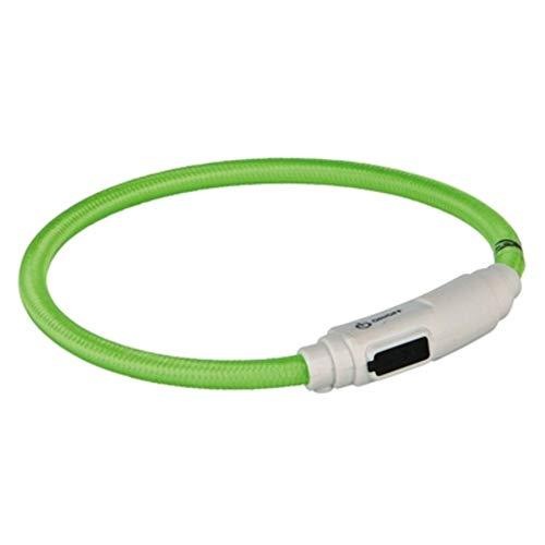 Trixie Flash Leuchtring USB grün für Katzen