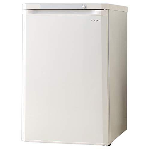 アイリスオーヤマ 冷凍庫 85L 前開き ノンフロン 温度調節3段階 静音 省エネ メーカー1年保証 ホワイト IUSD-9A-W
