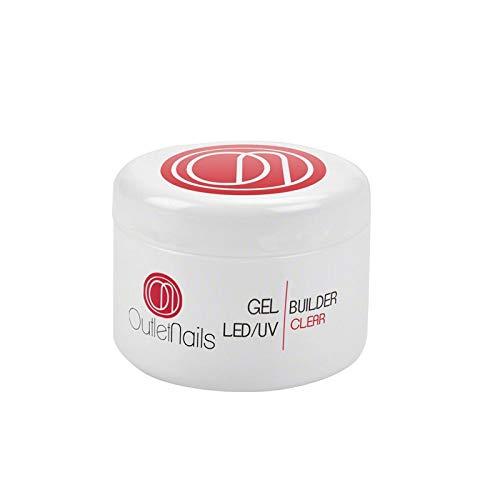 Gel Costruttore Trasparente LED/UV per unghie 50ml / Builder Gel Clear / Costruttore Gel 50g