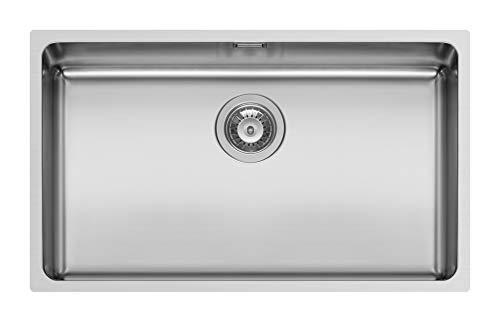 Schock Mono Sn100Xl - Fregadero de 1 mm (acero inoxidable, 70 x 40 x 20 cm)