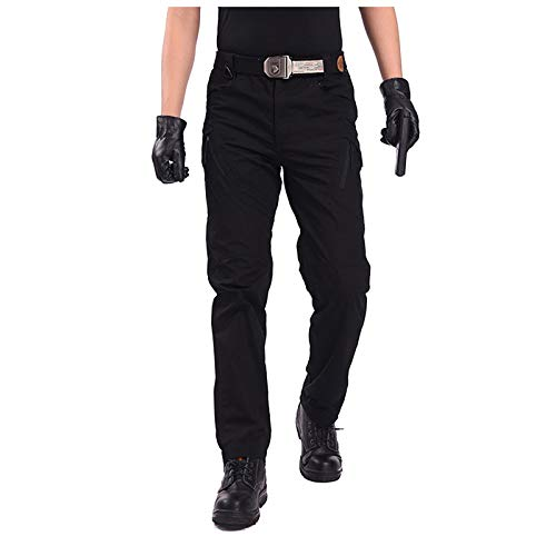 OutTop Men's Tactical Pants with Cargo Pockets Water Repellent Ripstop Cargo Pants Outdoor Hiking Work Pants Sweatpants (Black, XXL)