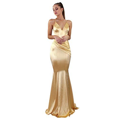 Women Sling Cross Wedding V-Neck Elegant Party Evening Slim Hollow Lace Dress