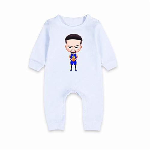 Combinaison bébé Printemps et Automne Barboteuse Personnage de Dessin animé NBA adapté pour 0-15 Mois Curry Durant Harden James,Curry-1,59(0-3M)