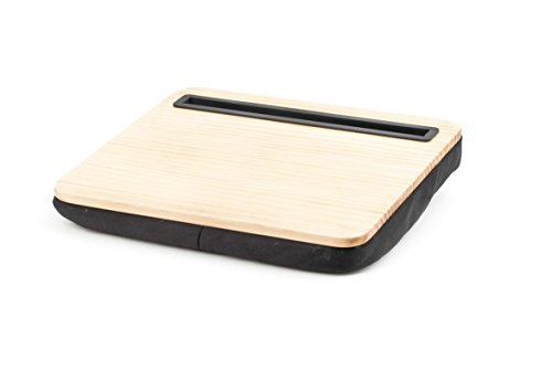 Kikkerland iBed Lap Desk, Tablet, For On A Bed, In A Plane, While You Eat, Maximum Comfort, Wood US039W
