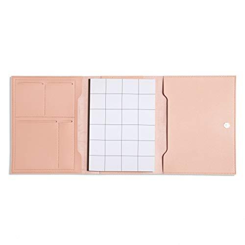 Poketo Blush ピンク ミディアム ミニマリスト 二つ折りオーガナイザー プランナーノートブックカバー Poketo Concept Plannerに最適 A5 9.25インチ x 7インチ
