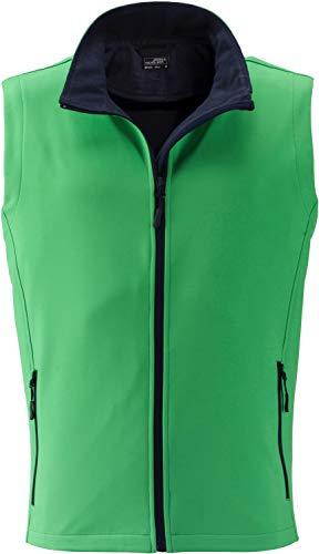 James & Nicholson Herren Men's Promo Softshell Vest Outdoor Weste, Grün (Green/Navy), X-Large