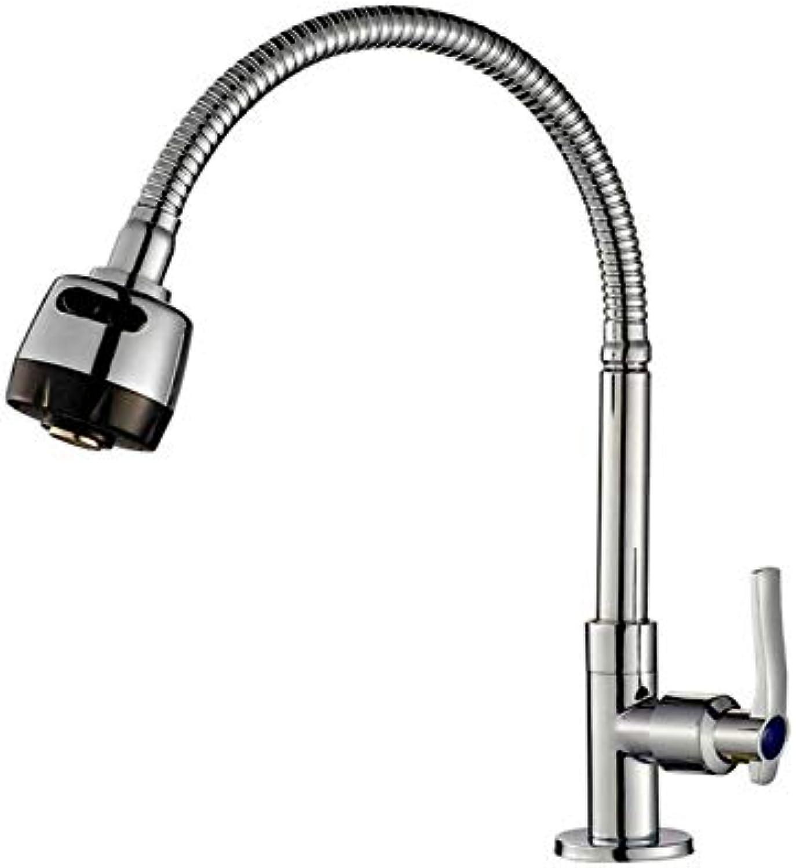 Taps Kitchen Sinkantique Bathroom Copper Single Cold Single Hole Kitchen Stainless Steel Sink Sink