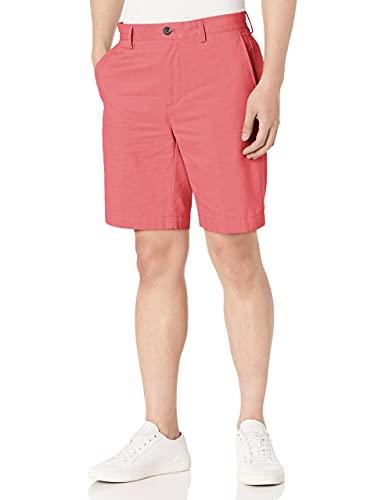 Amazon Essentials – Pantalón corto de corte entallado para hombre (22,8 cm), Rojo (Washed Red Was), 36W